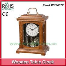 2014 Hot selling Woodpecker antique wooden desktop clock with handle