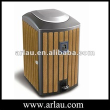 Arlau AD-03 Pedal Dustbin Indoor Plastic Wood dustbin Pedal Dustbin
