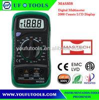 Good Quality Mastech MAS838 AC DC Voltage Resistance Temperature Multimeter/Pocket Size Digital Multimeter