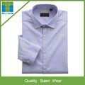 de alta calidad de sarga de algodón camisa de vestir para hombres