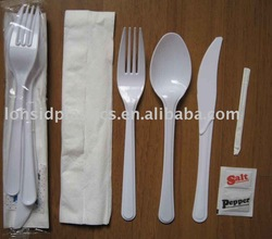5.5g Heavy Weight Disposable Plastic Tableware Sets- Knife, fork, spoon and etc