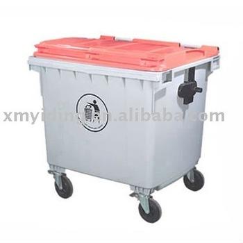 1100L Large Plastic waste bin garbage waste bin