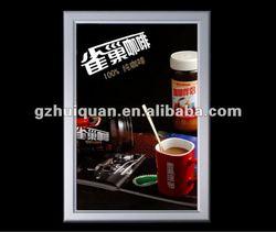 aluminum profile outdoor advertising slim led light box/light frame