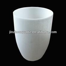 cylinder crucible opaque white quartz