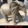 FRP lifesize elephant sculpture as outdoor decoration
