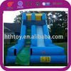 Inflatable double lane slip slide for kids and adults water play equipment