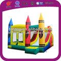 parque de diversões equipamentos de casa de salto inflável com slide para crianças