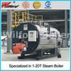 Horizontal type installation oil/gas steam generator