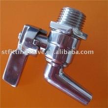 "3/4"" NPT Threaded Polished Stainless Steel bib cock valve"
