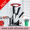 CK808W 6 pcs ceramic knife set with Acrylic block