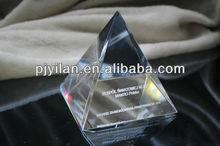 elegant clear quartz crystal pyramid glass pyramid 3d laser crystal pyramid