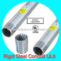 hot dip galvanized electrical rigid Conduit steel pipe