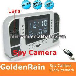HD Remote Control Clock Hidden Camera