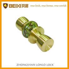 High Security Brass Made Satin Brass Finish Tubular Passage Knob Locks For Doors