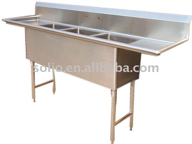 Triple Sink Commercial : Steel Commercial Sink triple bowl sink, View stainless steel sink ...