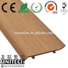 """W4"""" L9.8' pvc waterproof baseboard, vinyl skirting ISO approval"""