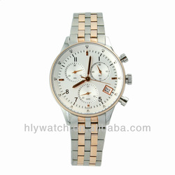 Rosegold Stainless Steel 316 Watch Manufacturer in Shenzhen CE and ROHS Certificate
