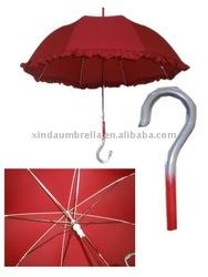 """23"""" x8k lady floral border straight umbrella fiberglass rib"""