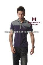 2015 brand business leisure 100%cotton men's t-shirt clothing wholesale