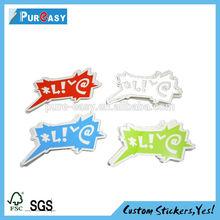 waterproof light silver adhesive label printing