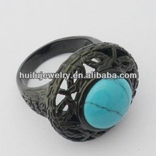 customize OEM man turquoise souvenir rings
