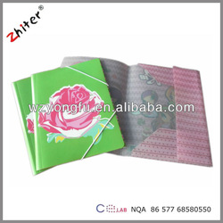 cute plastic file folder with elastic band