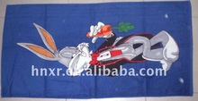 100%Cotton velour reactive printed bugs bunny beach towel