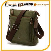 fashion men canvas shoulder messenger bag