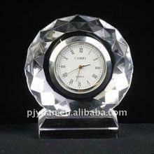 crystal gift ,crystal clock,nice crystal round clock