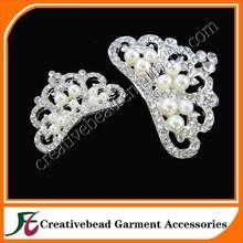 Princess Crown Headband- Rhinestone Pearl Crown on Ivory Satin Elastic for Baby Headband, Crown Headband, Princess Headband