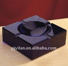 elegant classic black crystal ashtray beautiful Crystal Ashtray for office gift and home decoration,crystal craft