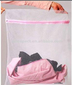 2014 laundry pink houshold foldable mesh bag
