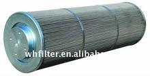 Hydraulic in line oil filter for compressor
