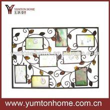 Metal ağacının yapraklarından eşsiz duvar Aile fotoğraflaraiçin çerçeveler 8/sekiz adet ev dekorasyonu