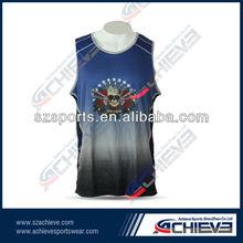 full sublimation printed Reversible basketball uniform