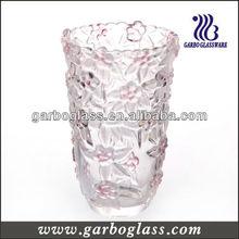 Red Rose Carved Table Glass Vase