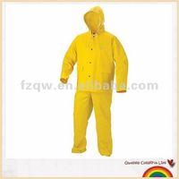 3pcs Construction waterproof PVC polyester PVC safety yellow work wear