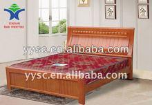 Light teak color wood bedroom furniture