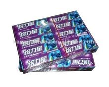 Support Star blueberry flavor chewing gum