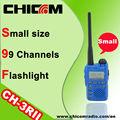 Chicomvhfและuhfเครื่องส่งรับวิทยุมินิfmch-3rii