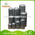 """Hidropónicos de coco carbón activado del filtro de aire con 4-14"""" brida pulgadas"""