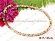 classic men biomagnetic scalar quantum energy 4 in 1 7 in 1 necklace IP gold