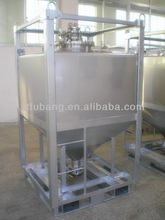 Conical bottom stainless steel IBC tank for powder