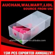 Clear Plastic PP Women's Shoe Storage Drawer Box with Lock