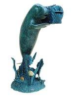 Bronze dolphin Mailbox sculpture