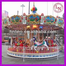 Theme park carousel rides ! Children musical amusement galloper
