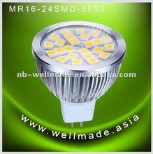 MR16 GU10 24leds SMD led bulb