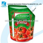 HOT!!Stand up plastic tomato sauce bag spout packaging