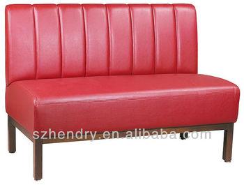 beautiful designed red leather restaurant sofa
