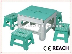 Plastic quadrate outdoor dining serving folding table